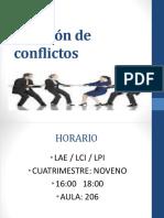 1.- Solución de Conflictos