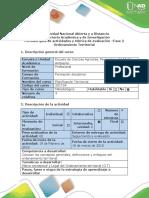 Guía de Actividades y Rúbrica de Evaluación-Fase 2 - Ordenamiento Territorial Desarrollo de Comunidades.