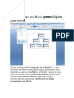Cómo Hacer Un árbol Genealógico Con Word Docx