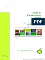 BP Subsea Reliability Implementation Manual