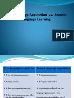 First Language Acquisition Vs Second language acquisition