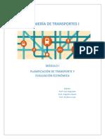 Transporte_modulo_planificación de Transporte y Eval Económica
