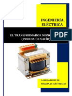 El Transformador Monofásico (Prueba de Vacío)