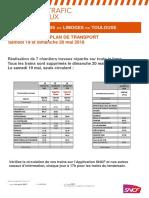 Programmes de circulation sur la ligne Paris-Orléans-Limoges-Toulouse via l'Indre