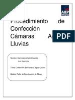 Avanze Trabajo Obras Viales - Confeccion de Camaras Aguas LLuvias.