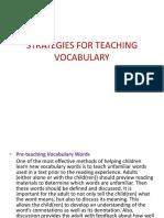 Strategies for Teaching Vocabulary