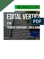 Edital Verticalizado - STM - Técnido Judiciário Área Administrativa