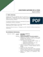 CV John Quinones de La Cruz Resumen
