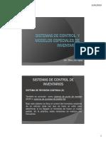 Sistemas de Control y Modelos Especiales de Inventarios