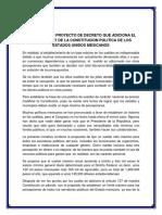 Iniciativa Con Proyecto de Decreto Que Adiciona El Articulo 127 de La Constitucion