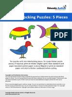 Five Piece Puzzles - Educate Autism