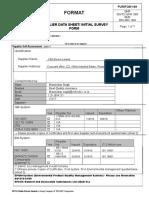 PUR FO 01-09 Supplier Data Sheet