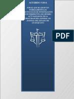 ACUERDO 7-2014 Protocolos de Investigación Con Perspectiva de Género