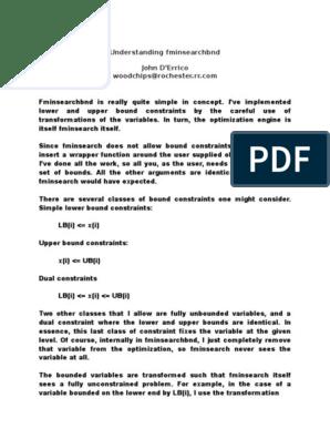 Understanding Fminsearchbnd | Logarithm | Nonlinear System