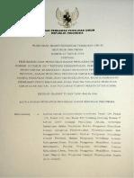 Perbawaslu No. 10 Tahun 2018 Ttg Pembentukkan, Pemberhentian Dan PAW Bawaslu Prov. - PTPS