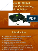 Global Production, outsourcing & logistic