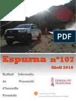 Espurna Butlletí informatiu de Prevenció d'Incendis Forestals  Abril 2018