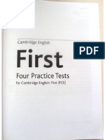 Cambridge English First Four Practice Tests Collins