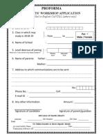 Application for Student Workshop