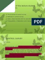 l4 Control Survey Traverse