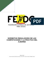 Normativa Reguladora Del Ajedrez FEDC -Aprobada 19-05-2017