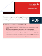 Learning Info Sheets Media Studies