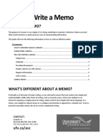 How to Write a Memo Schroeder