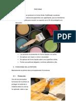 contenido monografia PINTURAS