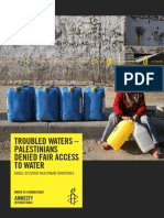 Troubled Waters - Palestinians Denied Fair Access to Water