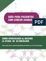 ESMO Guia Para Pacientes Con Cancer Avanzado
