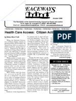 October 2008 Peaceways Newsletter, Central Kentucky Council for Peace and Justice