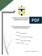 Nom y Nmx Microbiologia