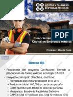 Financiamiento y Costo de Capital en minería