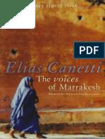 Canetti, Elias - Voices of Marrakesh (Marion Boyars, 1982)