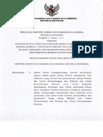 Permen ESDM No. 22 Tahun 2018 Tentang Perubahan Atas Permen ESDM Nomor 11 Tahun 2018