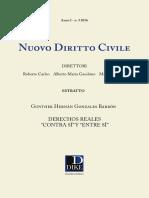 Nuovo Diritto Civile. Derechos Reales Contra Sí y Entre Sí