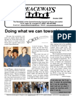 October 2009 Peaceways Newsletter, Central Kentucky Council for Peace and Justice