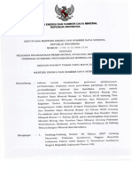 Kepmen ESDM Nomor 1796 K 30 MEM 2018 Tentang Pedoman Pelasanaan Permohonan Evaluasi Serta Penerbitan Perizinan DI Bid