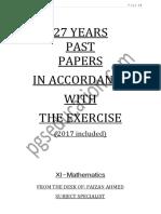 XI maths past peper 24years