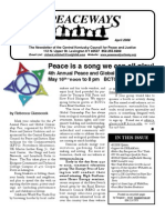 April 2009 Peaceways Newsletter, Central Kentucky Council for Peace and Justice