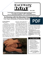 March 2009 Peaceways Newsletter, Central Kentucky Council for Peace and Justice