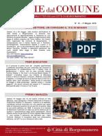 Notizie Dal Comune di Borgomanero del 17 Maggio 2018