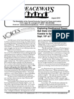 August 2010 Peaceways Newsletter, Central Kentucky Council for Peace and Justice