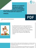 Importancia de La Nutrición en El Embarazo e