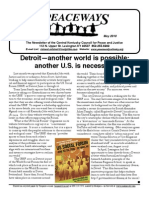 May 2010 Peaceways Newsletter, Central Kentucky Council for Peace and Justice