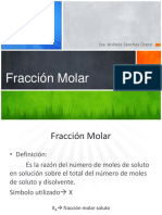 Fraccion Molar