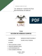 Monografia Habeas Corpus y Cuestionario