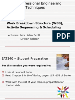 EAT 340 UNIT 1 LESSON 8 - WBS, Activity Sequencing and Scheduling Powerpoint.ppt