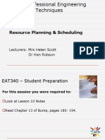 EAT 340 UNIT 1 LESSON 10 - Resource Planning and Scheduling Lecture Powerpoint.ppt