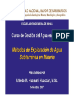 Tercera Semana - Métodos de Exploración de Agua Subterránea